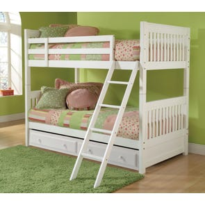 Hillsdale Furniture Lauren Twin over Twin Storage Bunk Bed