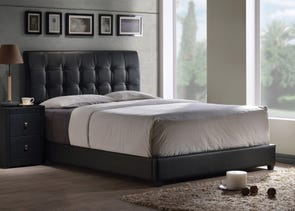 Hillsdale Furniture Lusso Bed with Black Faux Leather Queen Size