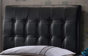 Hillsdale Furniture Lusso Black Faux Leather Headboard with Bed Frame Full Size