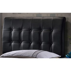 Hillsdale Furniture Lusso Black Faux Leather Headboard with Bed Frame Queen Size