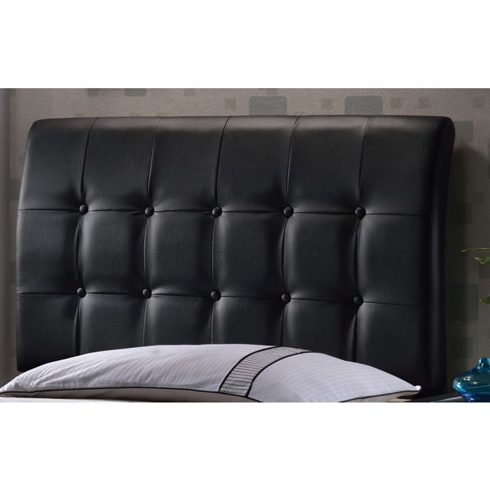 check out abdfe 3b039 Hillsdale Furniture Lusso Black Faux Leather Headboard with Bed Frame King  Size
