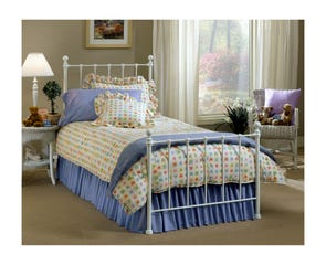 Hillsdale Furniture Molly Bed in White Twin Size