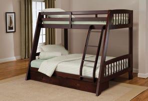 Hillsdale Furniture Rockdale Bunk Bed in Espresso