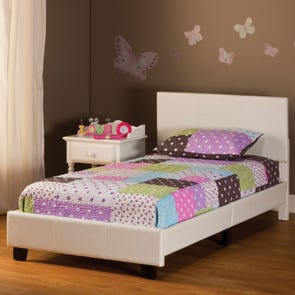 Hillsdale Furniture Springfield Twin Bed in a Box in White Polyurethane