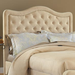 Hillsdale Furniture Trieste Fabric Upholstered Headboard in Buckwheat Queen Size