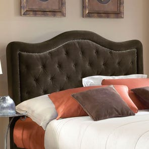 Hillsdale Furniture Trieste Fabric Upholstered Headboard in Chocolate King Size