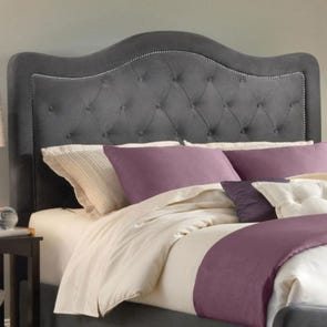 Hillsdale Furniture Trieste Fabric Upholstered Headboard in Pewter Queen Size
