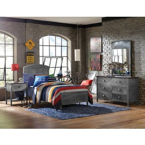 Hillsdale Furniture Urban Quarters 4 Piece Panel Bedroom Set