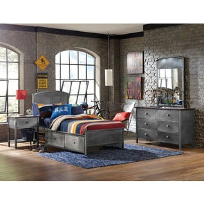Hillsdale Furniture Urban Quarters 4 Piece Panel Storage Bedroom Set
