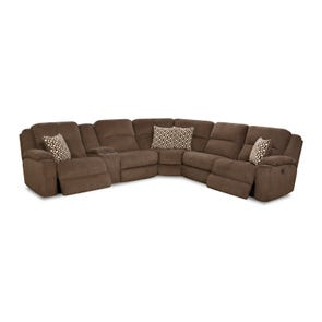 HomeStretch Catalina Power Reclining Left Side Console Loveseat Sectional in Chocolate
