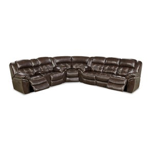 HomeStretch Cheyenne Reclining Sectional in Whiskey