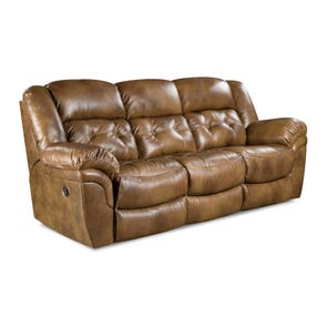 HomeStretch Cheyenne Reclining Sofa in Saddle