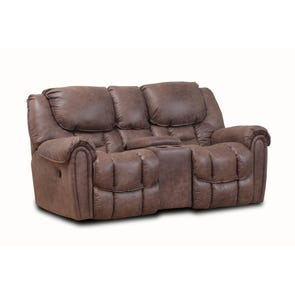 HomeStretch Del Mar Rocking Console Loveseat in Mocha