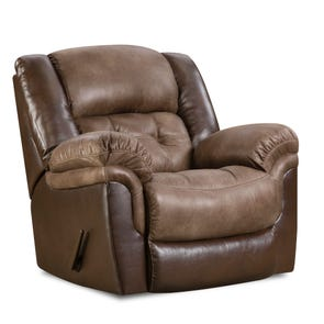 HomeStretch Fenway Power Rocker Recliner in Taupe and Espresso
