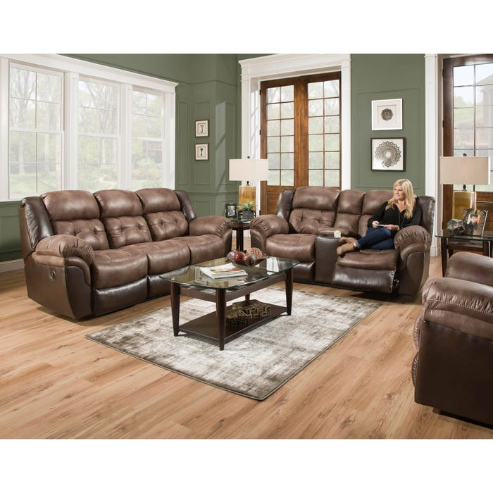 Enjoyable Homestretch Fenway Reclining Sofa In Taupe And Espresso Evergreenethics Interior Chair Design Evergreenethicsorg