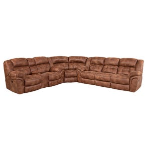 HomeStretch Frontier Reclining Sectional in Almond