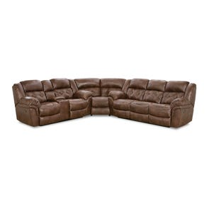 HomeStretch Frontier Reclining Sectional in Espresso