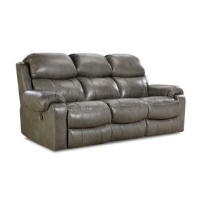 HomeStretch Hayden Power Reclining Sofa in Light Grey