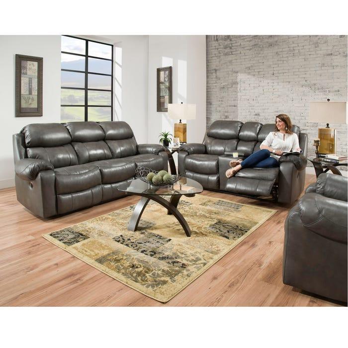 Astonishing Homestretch Hayden Power Reclining Sofa In Light Grey Evergreenethics Interior Chair Design Evergreenethicsorg