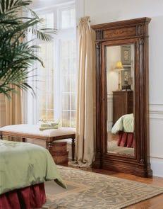 Hooker Furniture Arbor Hill Jewelry Storage Floor Mirror in Dark Brown