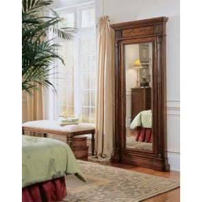 Hooker Furniture Arbor Hill Jewelry Storage Floor Mirror in Dark Brown