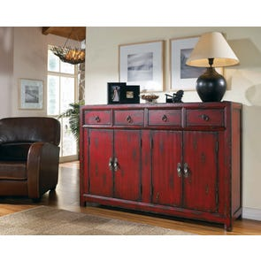 Hooker Furniture Arbor Hill Red Asian Cabinet