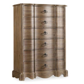 Hooker Furniture Corsica 6 Drawer Chest in Natural Finish