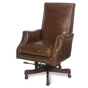 Hooker Furniture Executive Desk Chair in Kerala Periyar Light Chocolate Brown
