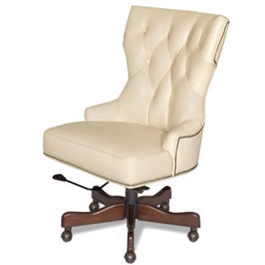 Hooker Furniture Executive Desk Chair in Surreal Simone Pale Bisque