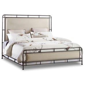 Hooker Furniture Studio 7H Slumber Metal Upholstered Bed Queen Size