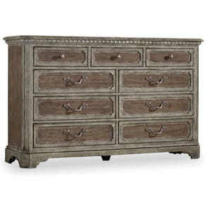 Hooker Furniture True Vintage 9 Drawer Dresser