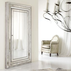 Hooker Furniture Sanctuary Brighton Shaped Mirror in Vintage Chalky White