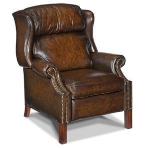 Hooker Furniture Sedona Vortex GS Recliner Chair in Dark Brown Leather