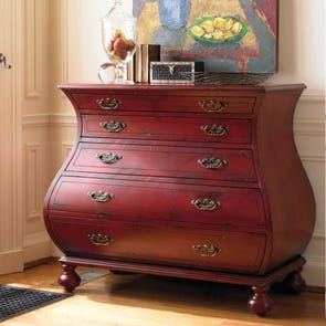 Hooker Furniture Accents Red Bombe Chest