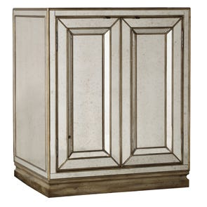 Hooker Furniture Sanctuary 2 Door Mirrored Nightstand in Visage