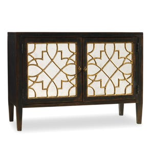 Hooker Furniture Sanctuary 2 Door Mirrored Console in Ebony