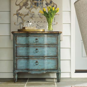 Hooker Furniture Seven Seas 3 Drawer Turquoise Chest