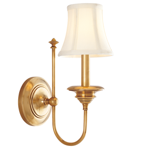Clearance Hudson Valley Lighting Yorktown Wall Sconce in Aged Brass OVFCR121788