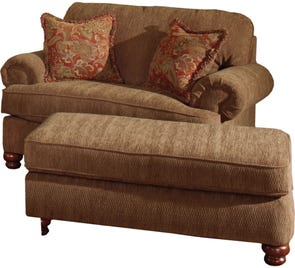 Jackson Belmont Chair and a Half in Umber with Optional Ottoman