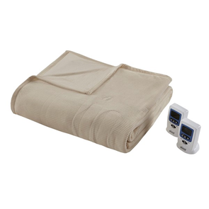 Beautyrest Electric Micro Fleece Full Heated Blanket in Beige by JLA Home