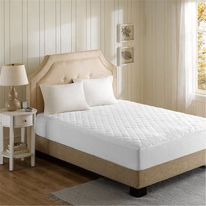 Beautyrest Heated Microfiber Queen Heated Mattress Pad with 3M Scotchgard in White by JLA Home