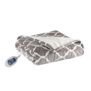 Beautyrest Ogee Heated Snuggle Wrap in Grey by JLA Home