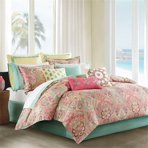 Echo Design Guinevere California King Comforter Set in Coral by JLA Home