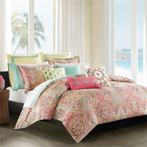 Echo Design Guinevere Twin Duvet Mini Set in Coral by JLA Home