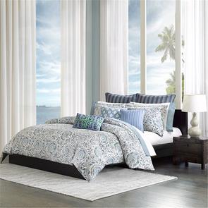 Echo Design Kamala King Duvet Cover Mini Set in Blue by JLA Home