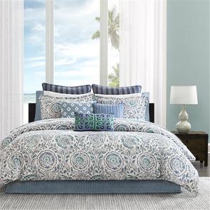 Echo Design Kamala Twin Comforter Set in Blue by JLA Home