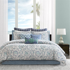Echo Design Kamala Twin Comforter Set in Blue by JLA Home
