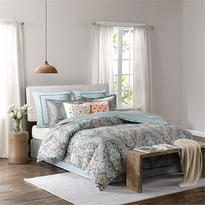 Echo Design Sterling Queen Comforter Set in Deep Green by JLA Home