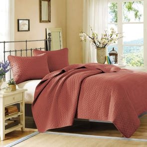 Hampton Hill Velvet Touch King Coverlet Set in Henna by JLA Home