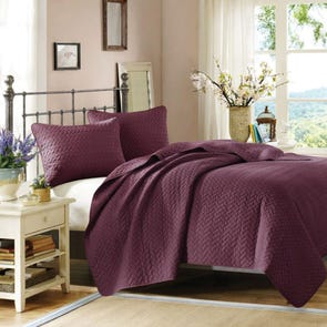 Hampton Hill Velvet Touch Coverlet Set in Mulberry by JLA Home